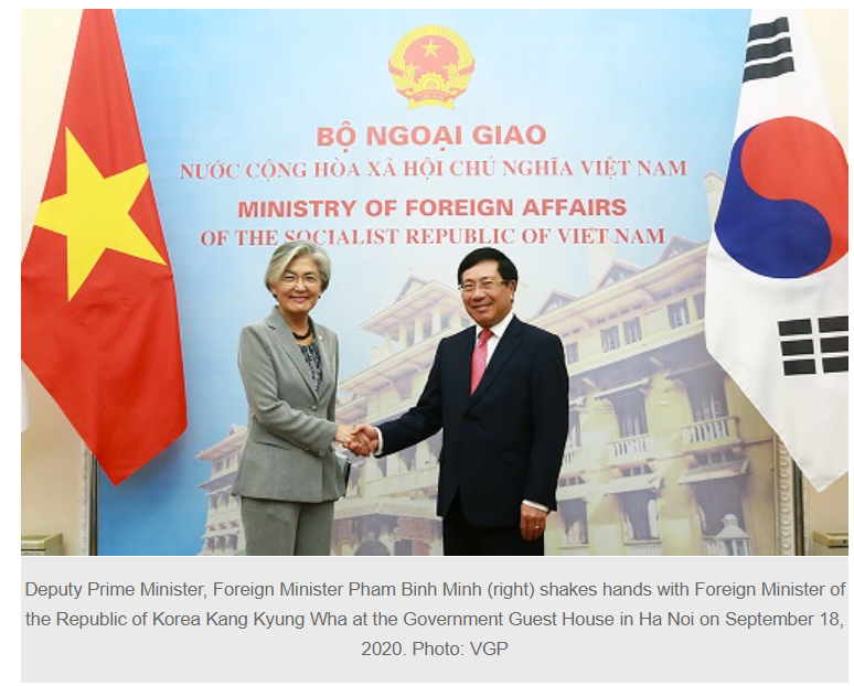 VN, RoK vow to continue close coordination at multilateral mechanisms