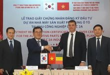 US $16.7 million invested to build a car parts factory in Hai Phong